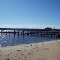 View of docks from beach, Гилфорд-Парк