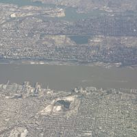 New York City - from a plane, Гуттенберг