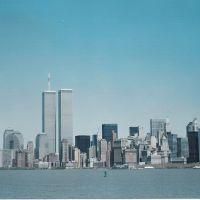 skyline desde isla de Ellis (año 2000), Джерси-Сити