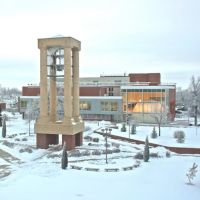 UNK Bell Tower & Planetarium in winter, Кирни