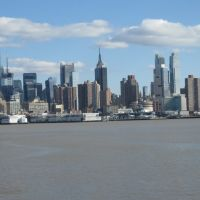 NYC from Weehawken Ferry Jersey Side, Норт-Берген