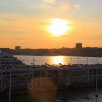 New York, Manhattan, Sunset, Норт-Берген