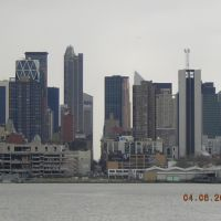 Looking Straight At 53rd Street in NYC (From Port Imperial Ferry Terminals Parking Lot 4-6-2007), Норт-Берген