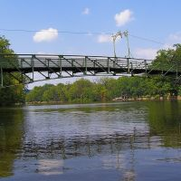 West Side Park Pedestrian Bridge, Passaic River, New Jersey, Патерсон
