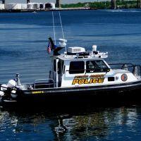 """Respect, Fairness, And Compassion"" - Perth Amboy Police Boat `Marine 2 - Arthur Kill - Perth Amoby, NJ - 5.29.2008, Перт-Амбой"