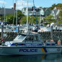 """Docking $2.00/ft. "" - Transient Dock - Municipal Marina - Union County N.J. Police Boat UC Marine 1 - Front St. - Perth Amboy, NJ - 9.12.2007, Перт-Амбой"