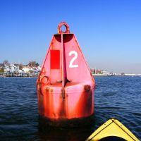 "Buoy - Red Nun 2 - Raritan River Cutoff - Raritan Bay - Perth Amboy, NJ - 11.8.2011 - Click ""John Moura""-, Перт-Амбой"