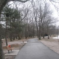 bike trail at Duck Pond area, Saddle River County Park, Риджвуд