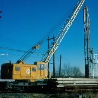 Erie Lackawanna (NYSW) Crane No. 3382 at Ridgefield Park, NJ, Риджефилд