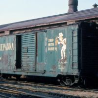 New York, Susquehanna and Western Railway (Susie-Q) Box Car No. 501 at Ridgefield Park, NJ, Риджефилд