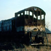 New York, Susquehanna and Western Railway Alco S2 No. 206 on the dead line at Ridgefield Park, NJ, Риджефилд