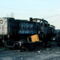 New York, Susquehanna and Western Railway Alco RS1 No. 234 on the dead line at Ridgefield Park, NJ, Риджефилд