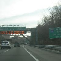 I-80 East, I-95 North, Near George Washington Bridge, 11-29-2008, Форт-Ли
