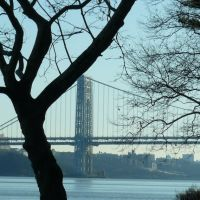 Washington Bridge, from the Palisades Interstate Park, Форт-Ли