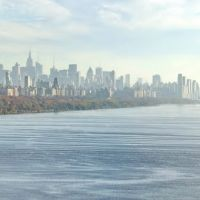 Manhattan and Hudson River from George Washington Bridge, Форт-Ли