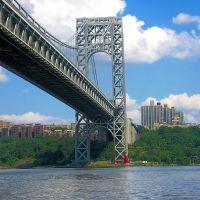 George Washington Bridge over Hudson River, Manhattan-New Jersey, Форт-Ли