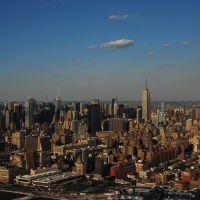 birds-eye view on Low Manhattan, Хобокен