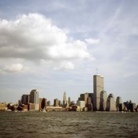 New York, View with Twin Towers, Хобокен