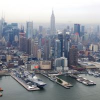 NYC from heli (Empire State Building in the middle), Хобокен