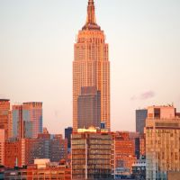 Empire State Building, view from Hoboken, Хобокен
