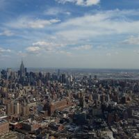New York from helicopter, Хобокен