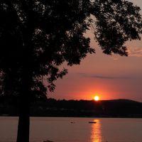 Sunset on Hudson River at Beacon, NY., Бикон
