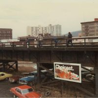 copyrighted__  late 70s early 80s - water street across from United Auto Parts - railroad bridge, Бингамтон