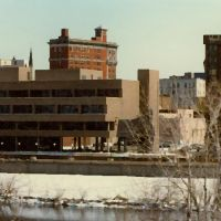 (copyrighted)  looking across the Chenango River in 1980 view from apartment, Бингамтон