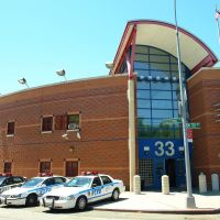 NYPD Police Station Precinct 33, Washington Heights, New York City, Бронкс
