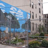 Harlem garden mural, Бронкс