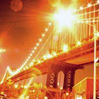 manhattan bridge @ plymouth street, Бруклин