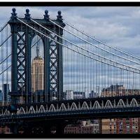 Manhattan Bridge & the Empire State Building, Бруклин
