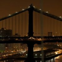 Manhattan Bridge, Midnight, Бруклин