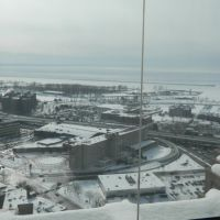 View of Lake Erie from the observation deck of City Hall in Buffalo, NY, to -15 degrees Celsius, Буффало