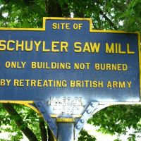 Revolutionary War Site - Battle of Saratoga - Gen. Schuylers saw mill, Гейтс
