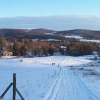 Village of Morris, NY in the Butternut Valley - looking south across the valley, Гилбертсвилл