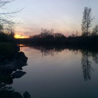 Sunset by long Pond, Грис