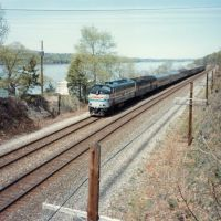 Southbound Amtrak Passenger Train at Hyde Park, NY, ДеВитт