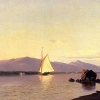 Kingston Point, Hudson River, by Francis A. Silva, ДеВитт