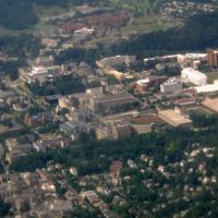 Cornell University main campus from the air, Итака