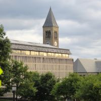 McGraw Tower and Olin Library at Cornell University, Итака