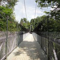 Pedestrian suspension bridge in Cornell, Итака