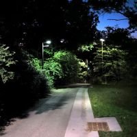 Path near Martha Building at night, Итака
