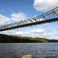 Rip Van Winkle Bridge over the Hudson River, New York, Катскилл