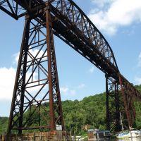 Wilbur Railroad Bridge over Rondout Creek, Kingston NY, Кингстон