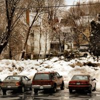 Parking Behind The Rondout Valley Bank, Кингстон