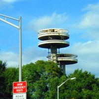 USA - NY - New York City. Oberservatory Towers at Flushing Meadows Park, Корона