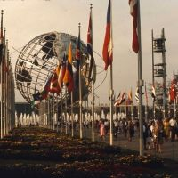 1964 New York City Worlds Fair, Flushing Meadows, The Promenade and Uni-Sphere, Корона