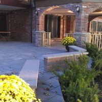 Backyard Bluestone Paver Patio, Лейк-Саксесс