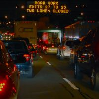 Traffic on the Long Island Expressway . . .the worlds longest parking lot!!!, Лейк-Саксесс